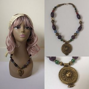 FREE W/Purchase-Vintage Boho glass bead necklace